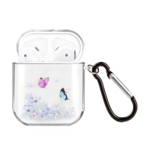 Pouzdro / obal pro Apple AirPods - gumové - zamilovaní motýli