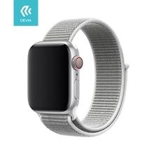 Řemínek DEVIA pro Apple Watch 40mm Series 4 / 5 / 6 / SE / 38mm 1 / 2 / 3 - nylonový - lasturově šedý