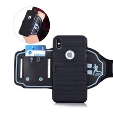 Sportovní pouzdro pro Apple iPhone Xs Max - černé s reflexním pruhem