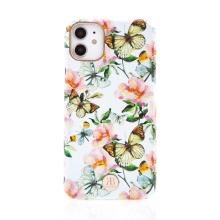 Kryt KINGXBAR pro Apple iPhone 11 - s kamínky - plastový - motýli a květiny