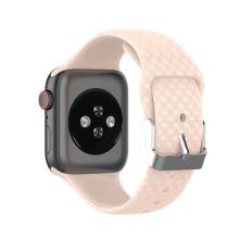 Řemínek pro Apple Watch 41mm / 40mm / 38mm - 3D textura - silikonový - růžový