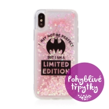 Kryt DC COMICS pro Apple iPhone X / Xs - pohyblivá srdíčka - gumový - Batman Bat Girl