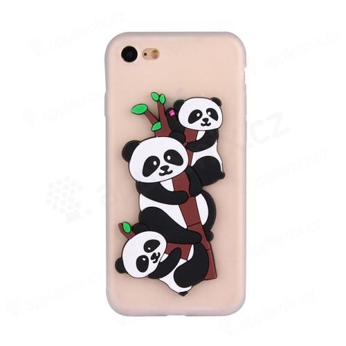 Kryt pro Apple iPhone 7   8 - gumový - bílý - 3D pandy na větvi ... c7e8e68af9c