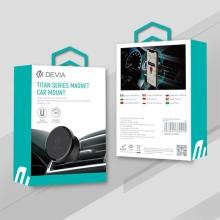 Držák do auta DEVIA - magnetický - do ventilační mřížky - 360° otočný - černý