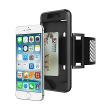 Sportovní pouzdro / kryt pro Apple iPhone 6 / 6S / 7 / 8 - pásek na ruku - gumové - černé
