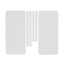 Ochranná dekorační celoobvodová vrstva pro Apple iPhone 5 - karbon - bílá