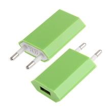 Mini USB nabíječka / adaptér pro Apple iPhone / iPod (1A) - zelená