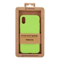 Kryt TACTICAL Velvet Smoothie pro Apple iPhone X / Xs - příjemný na dotek - silikonový - avokádově zelený