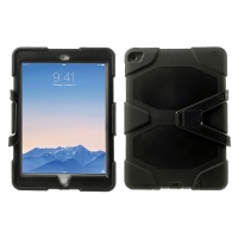 Kryt / obal pro Apple iPad Air 2 - outdoor - odolný - plastový / silikonový - černý