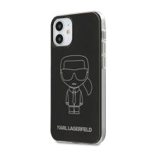 Kryt KARL LAGERFELD Head pro Apple iPhone 12 mini - hlava Karla - silikonový