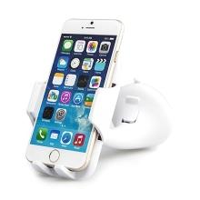 Držák do automobilu s přísavkou pro Apple iPhone a telefony 3.5 - 5.5 - otočný - bílý