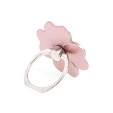 Stojánek / prsten na zadní stranu Apple iPhone - čtyřlístek - kovový - Rose Gold růžový