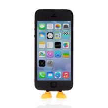 Antiprachová záslepka / stojánek 3D botky pro Apple iPhone / iPod touch mající Lightning konektor - oranžová