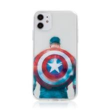 Kryt Captain America pro Apple iPhone 11 - gumový - průhledný