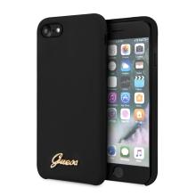 Kryt GUESS Retro pro Apple iPhone 7 / 8 / SE (2020) - silikonový - černý