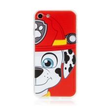 "Kryt ""Tlapková patrola"" pro Apple iPhone 7 / 8 / SE (2020) - gumový - hasič Marshall"
