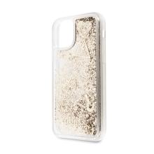 Kryt GUESS Liquid Glitter pro Apple iPhone 11 - plastový - zlaté třpytky