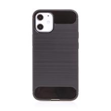 Kryt FORCELL Carbon pro Apple iPhone 12 / 12 Pro - gumový - černý