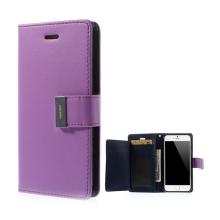 Pouzdro Mercury ve stylu peněženky s magneticky uzavíracím klipem pro Apple iPhone 6 Plus / 6S Plus - fialovo-modré