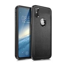 Kryt LENUO pro Apple iPhone X - textura kůže - gumový