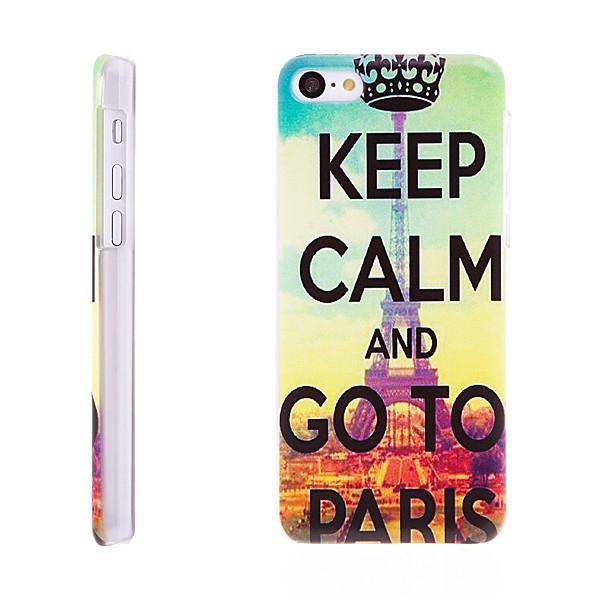 Plastový kryt pro Apple iPhone 5C - Keep Calm and Go To Paris