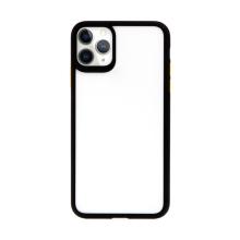 Kryt USAMS Janz pro Apple iPhone 11 Pro Max - plastový / gumový - průhledný / černý