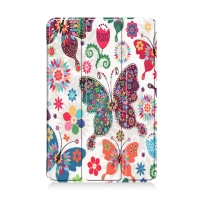 Pouzdro / kryt pro Apple iPad mini 4 / mini 5 - funkce chytrého uspání - plastové - motýli a květiny