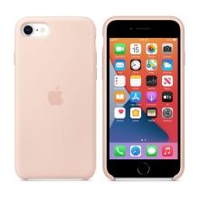 Originální kryt pro Apple iPhone 7 / 8 / SE (2020) - silikonový - pískově růžový