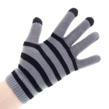 Rukavice pro ovládání dotykových zařízení - černo-šedé