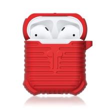 Pouzdro / obal pro Apple AirPods - silikonové - odolné - poutko na zavěšení + karabina
