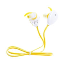Sluchátka BLUN sportovní Bluetooth 4.1 s ovládáním a mikrofonem - bílá / žlutá