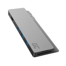 Dokovací stanice / port replikátor GREENCELL Connect 60 pro Apple MacBook - USB-C na HDMI + USB-A