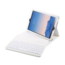 Klávesnice Bluetooth 3.0 + kryt / pouzdro pro Apple iPad Air 1 / Air 2 / Pro 9,7 / 9,7 (2017-2018) - bílá