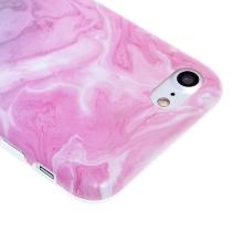 Kryt pro Apple iPhone 7 / 8 - gumový - růžový / zelený mramor
