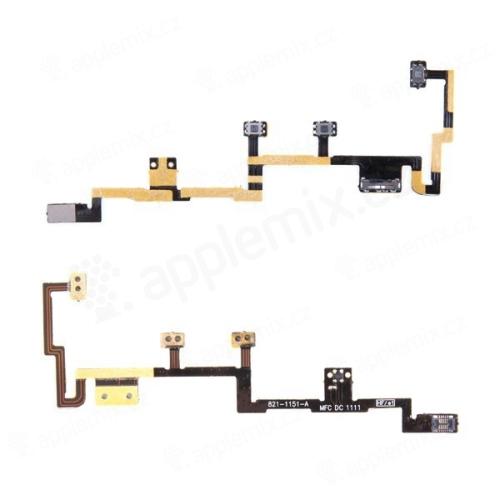 Flex kabel s přepínáním MUTE + ovládání hlasitosti + POWER pro Apple iPad 2 (1. verze) - kvalita A+