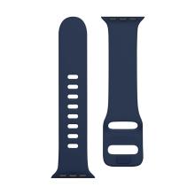 Řemínek TACTICAL pro Apple Watch 45mm / 44mm / 42mm - silikonový - tmavě modrý