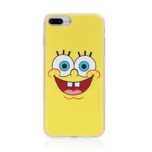 Kryt Sponge Bob pro Apple iPhone 6 Plus / 6S Plus - gumový - vysmátý Sponge Bob