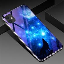Kryt pro Apple iPhone 11 - skleněný / gumový - modrý