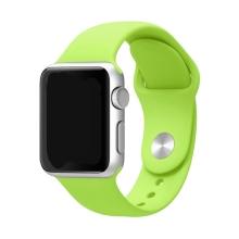 Řemínek pro Apple Watch 44mm Series 4 / 5 / 6 / SE / 42mm 1 / 2 / 3 - velikost S / M - silikonový - zelený
