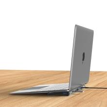 Dokovací stanice / port replikátor DEVIA pro Apple MacBook s konektorem USB-C na HDMI, USB-A, ethernet
