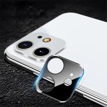 Tvrzené sklo (Tempered Glass) pro Apple iPhone 11 - na čočku fotoaparátu - kovový rámeček
