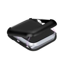 Kryt / pozdro pro Apple Watch 40mm Series 4 / 5 / 6 / SE / 38mm 1 / 2 / 3 - magnetický - kovový - černý