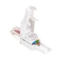 Koncovka / konektor RJ-45 pro ethernet - beznástrojové zapojení - bílá