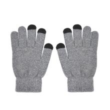 Rukavice pro ovládání dotykových zařízení - pánské - šedé