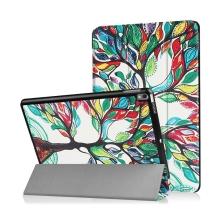 Pouzdro / kryt pro Apple iPad Pro 10,5 - funkce chytrého uspání + stojánek - strom