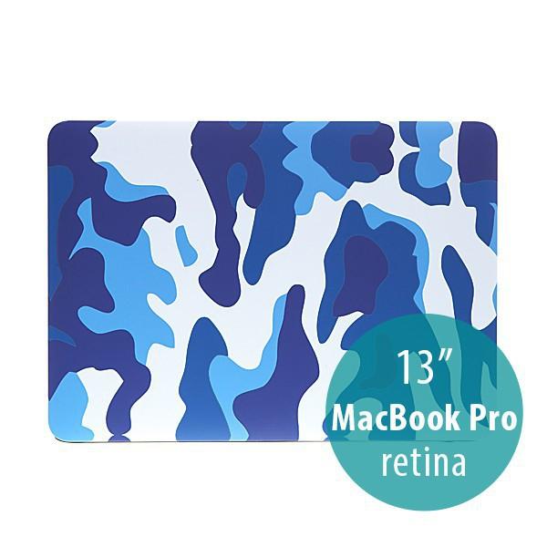 Plastový obal ENKAY pro Apple MacBook Pro 13 Retina - maskáč - modrý