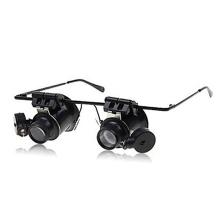 Brýlová lupa výklopná / brýle (zvětšení 20x) s LED osvětlením