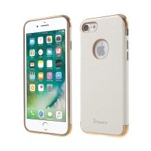 Kryt IPAKY pro Apple iPhone 7 / 8 - výřez pro logo / gumový - bílý