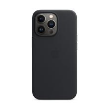 Originální kryt s MagSafe pro Apple iPhone 13 Pro - kožený - temně inkoustový