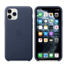 Originální kryt pro Apple iPhone 11 Pro - kožený - půlnočně modrý